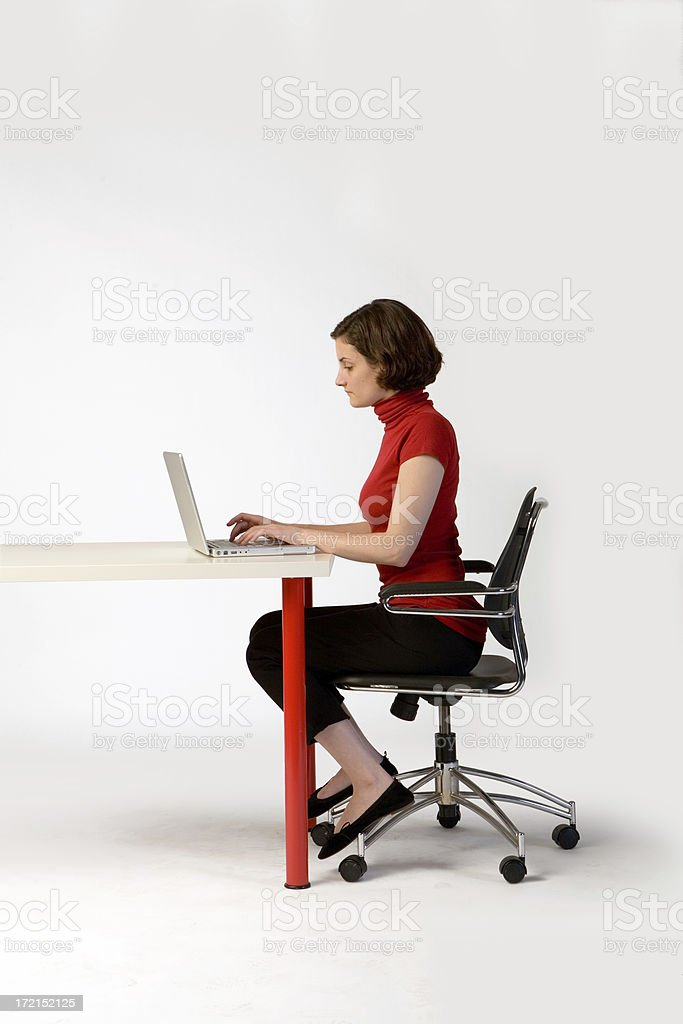 On the Laptop royalty-free stock photo