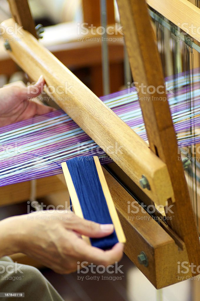 On The Loom royalty-free stock photo