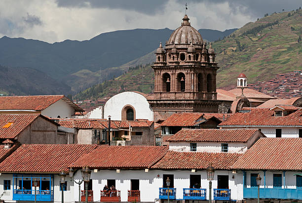 On the Main square in Cuzco stock photo