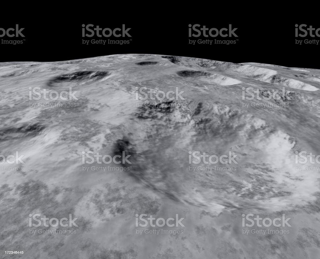 On the moon stock photo