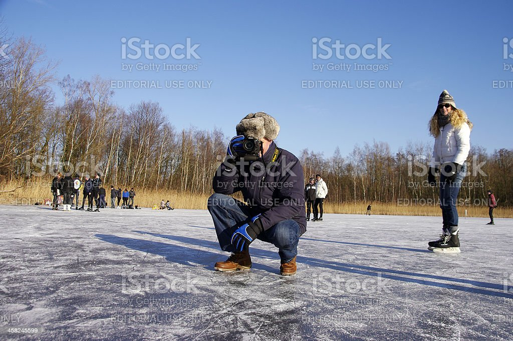 On the nature ice royalty-free stock photo