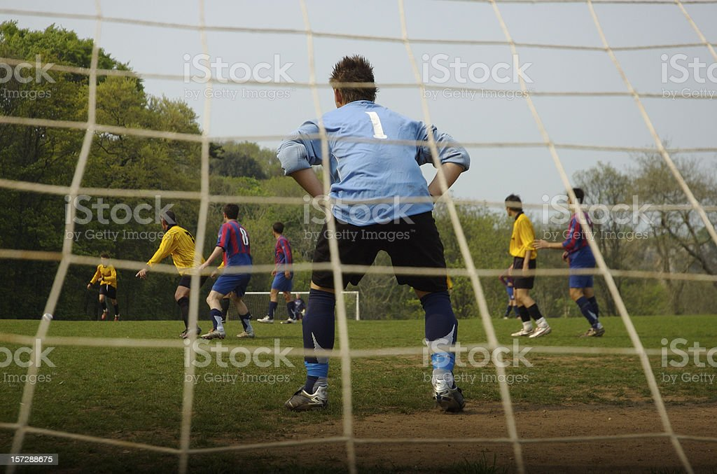 On the Other Side of Defence Sport Soccer Match royalty-free stock photo