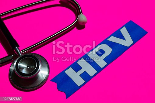 istock HPV on the paper with medicare Concept 1047327662