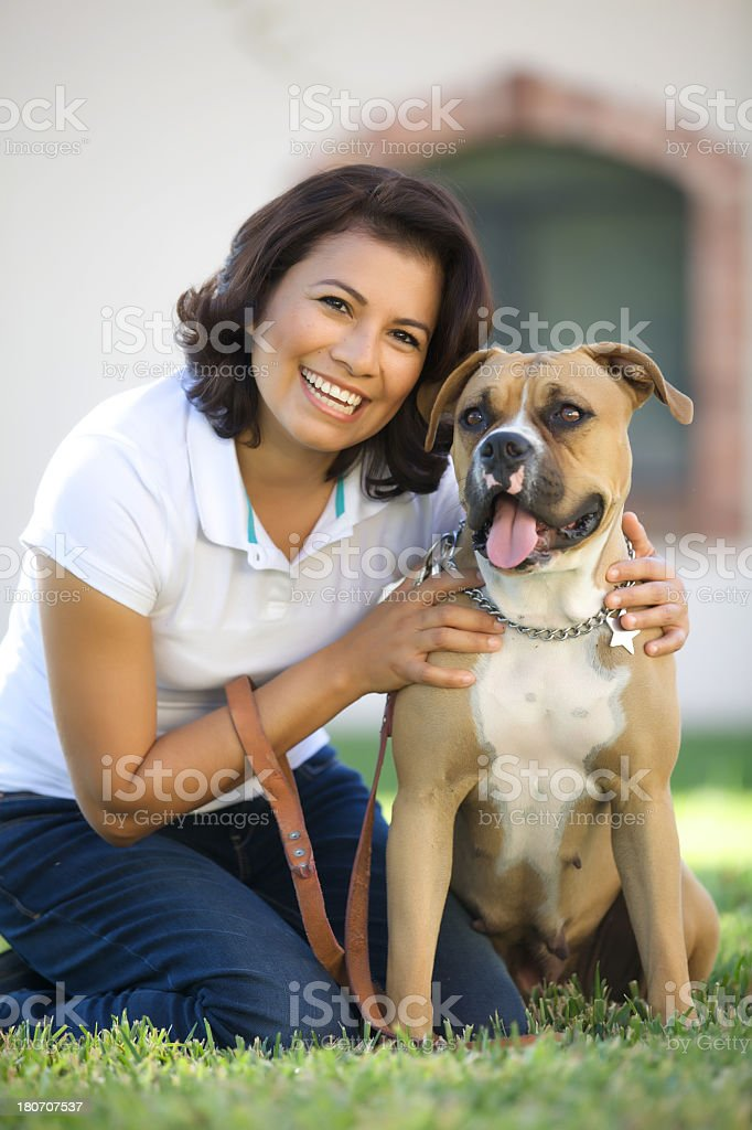 On the park with my dog royalty-free stock photo