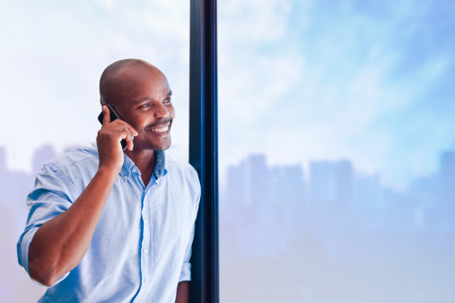 On The Phone Stock Photo - Download Image Now