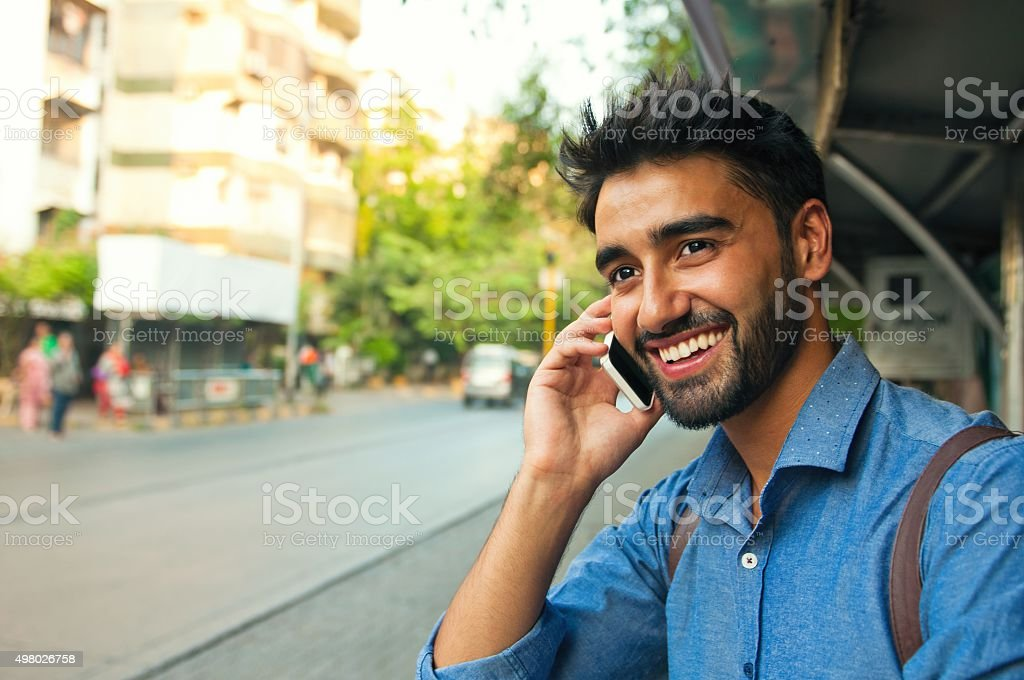 On the phone! stock photo