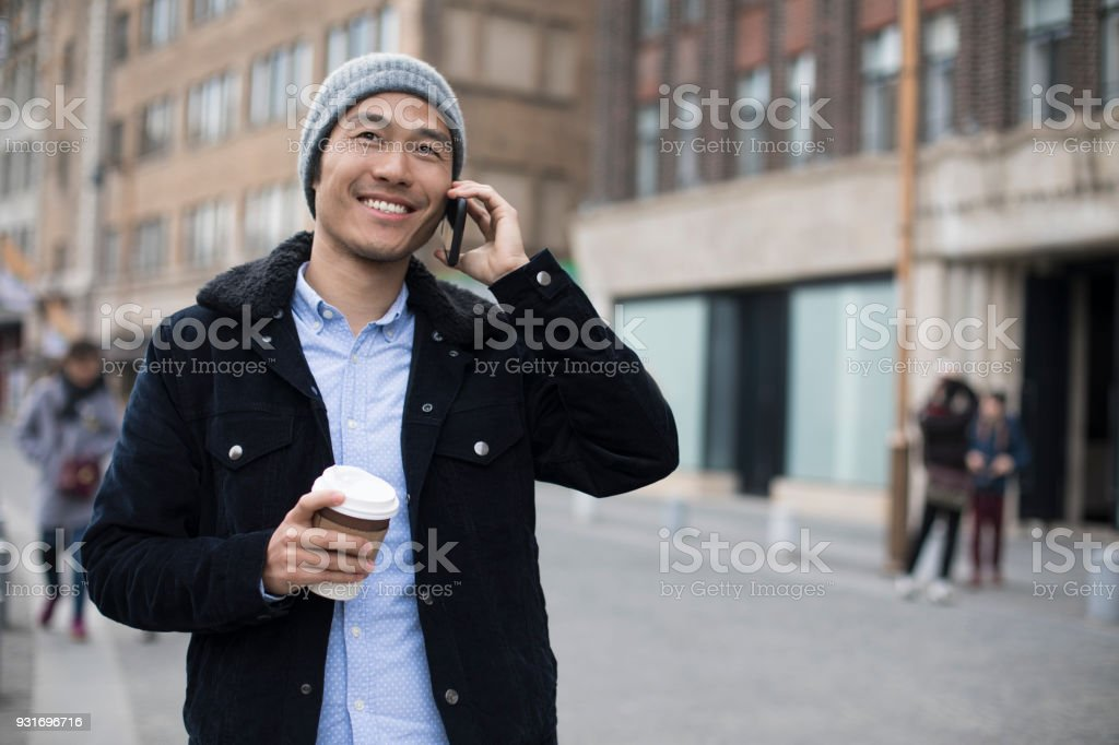 On the phone. stock photo