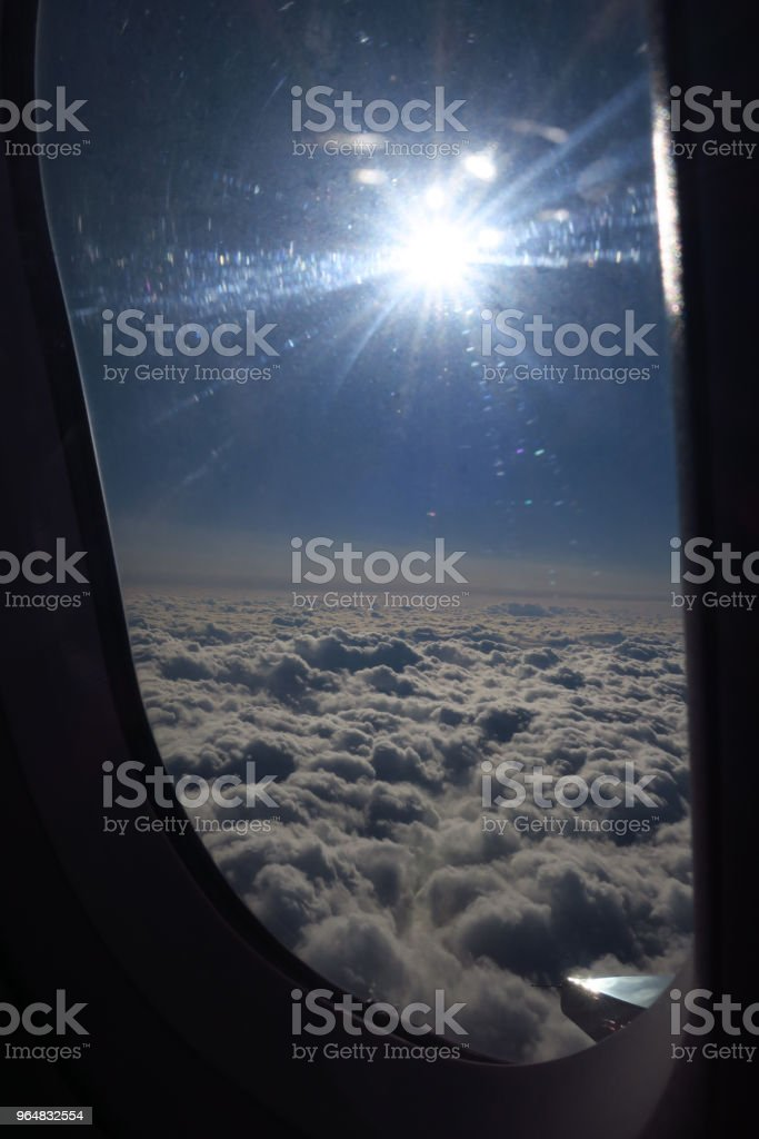 On the plane royalty-free stock photo