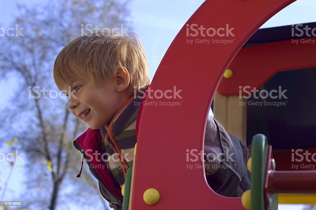 on the playground royalty-free stock photo