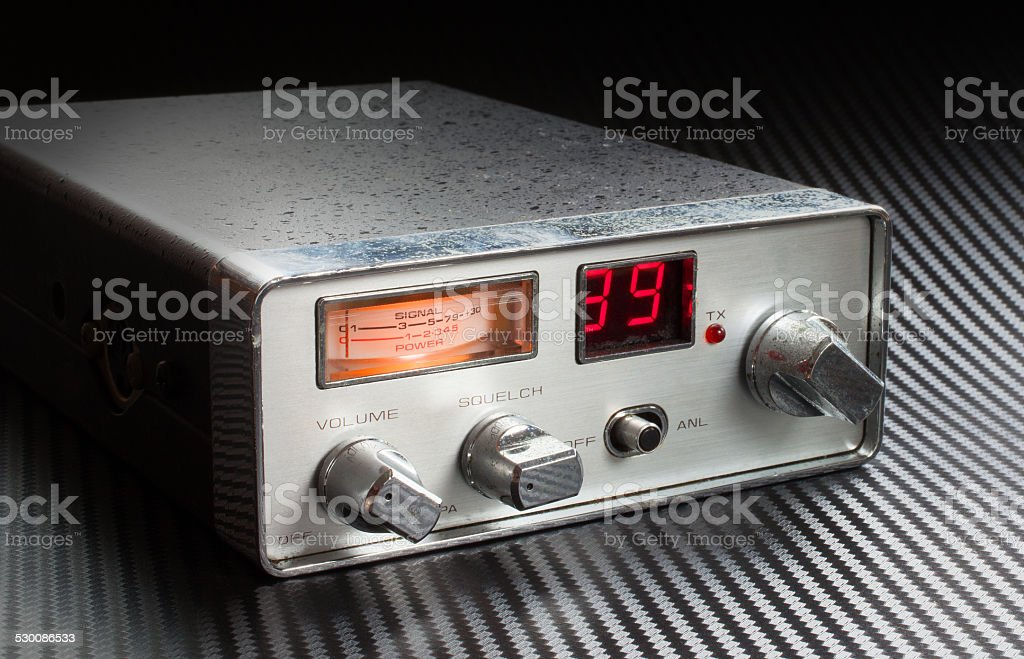 On the radio stock photo