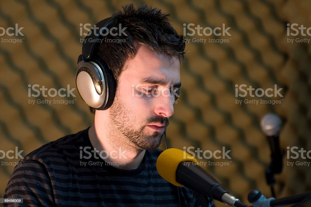 On the radio royalty-free stock photo