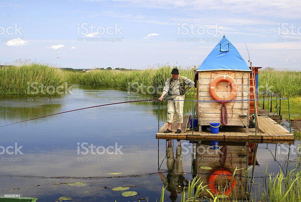 On the raft - Biebrza, Poland royalty-free stock photo