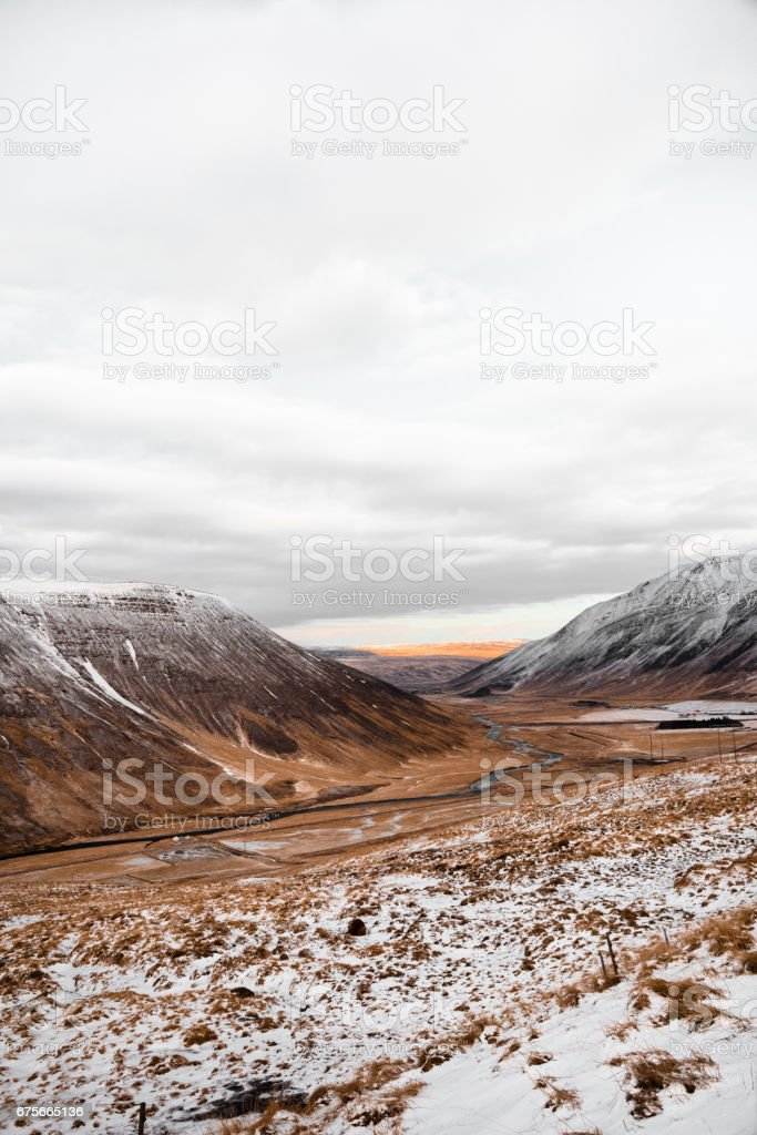 on the raod in iceland royalty-free stock photo