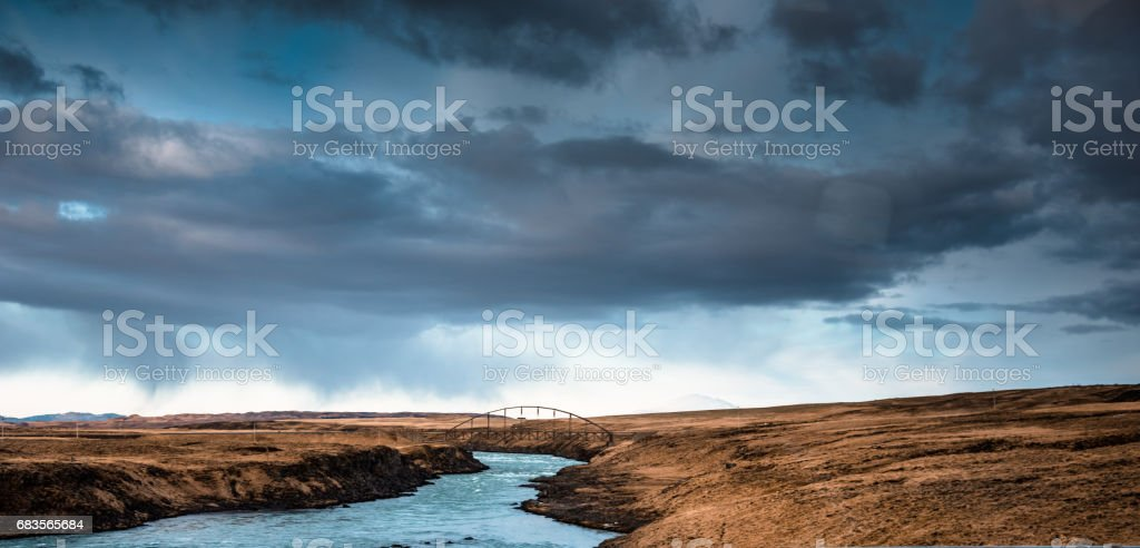 on the raod in iceland westfjord stock photo