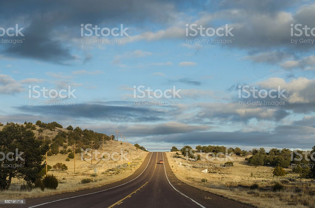 On the road again stock photo