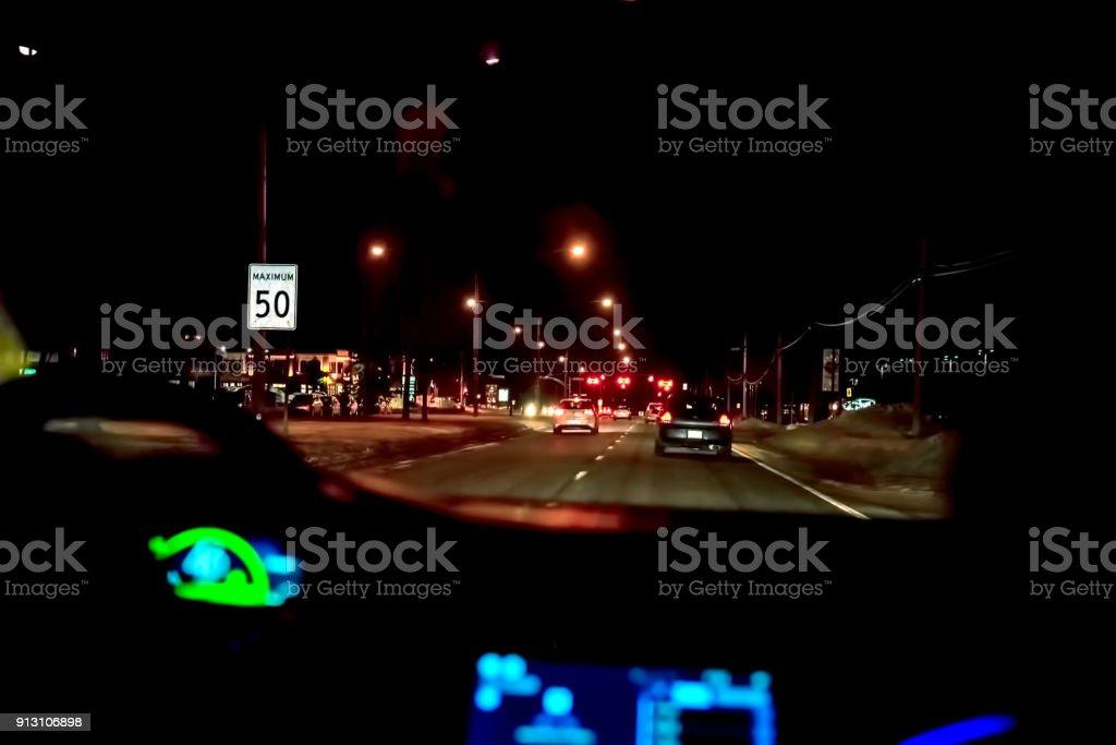 Sur la route la nuit - Photo