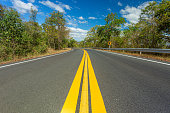 Road, Mountain Road, Curve, Mountain, Forest,