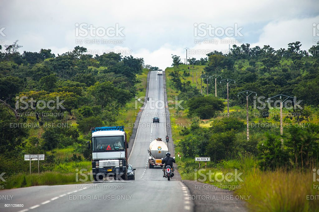 On the road in Africa. Benin. stock photo
