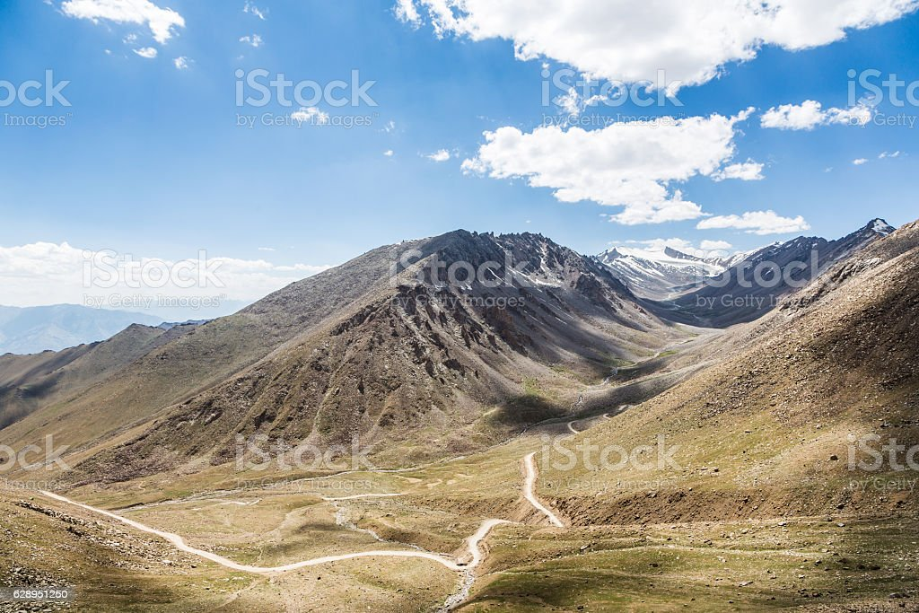 On the road in Ladakh stock photo