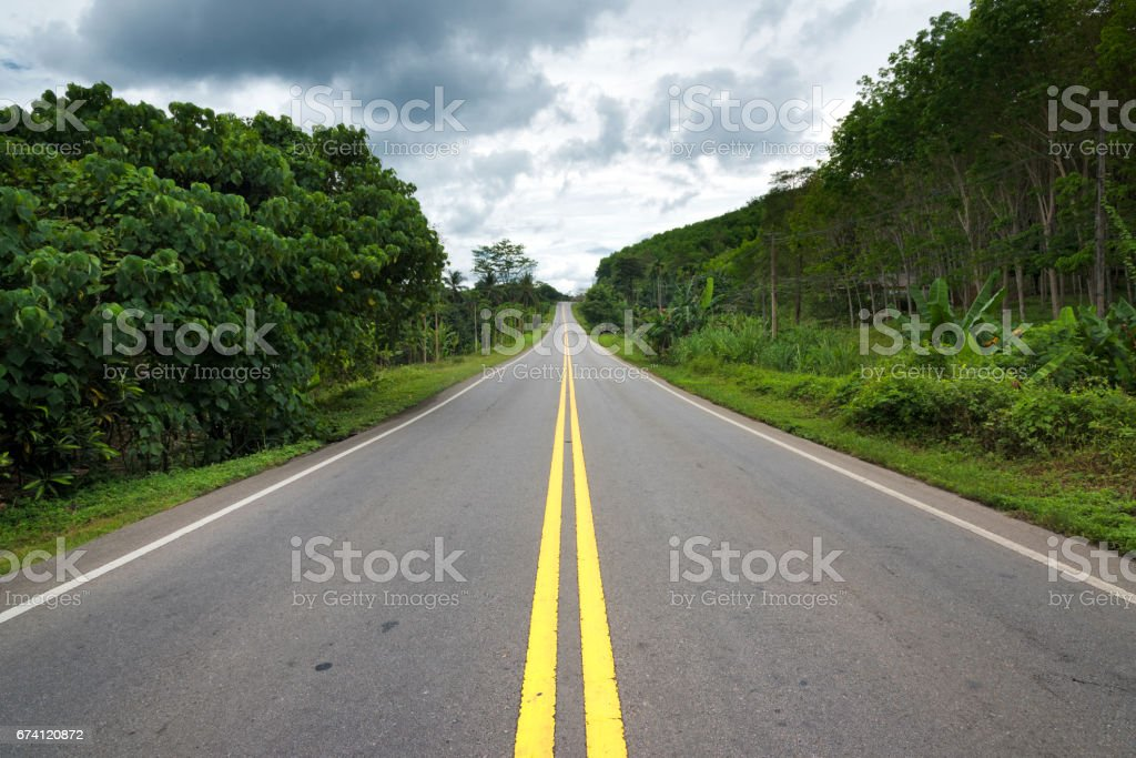 On The Road in Thailand stock photo