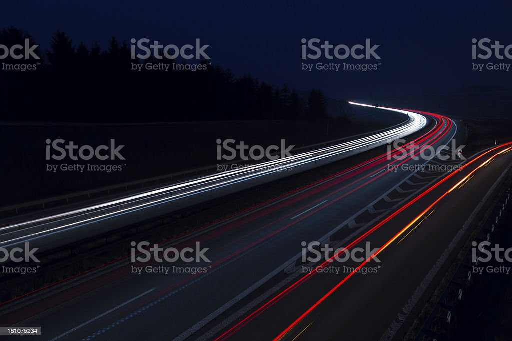 on the road royalty-free stock photo