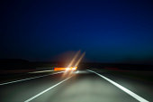 high speed on the highway at nightsee my