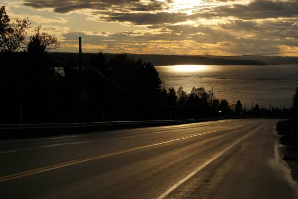 Sur la route stock photo