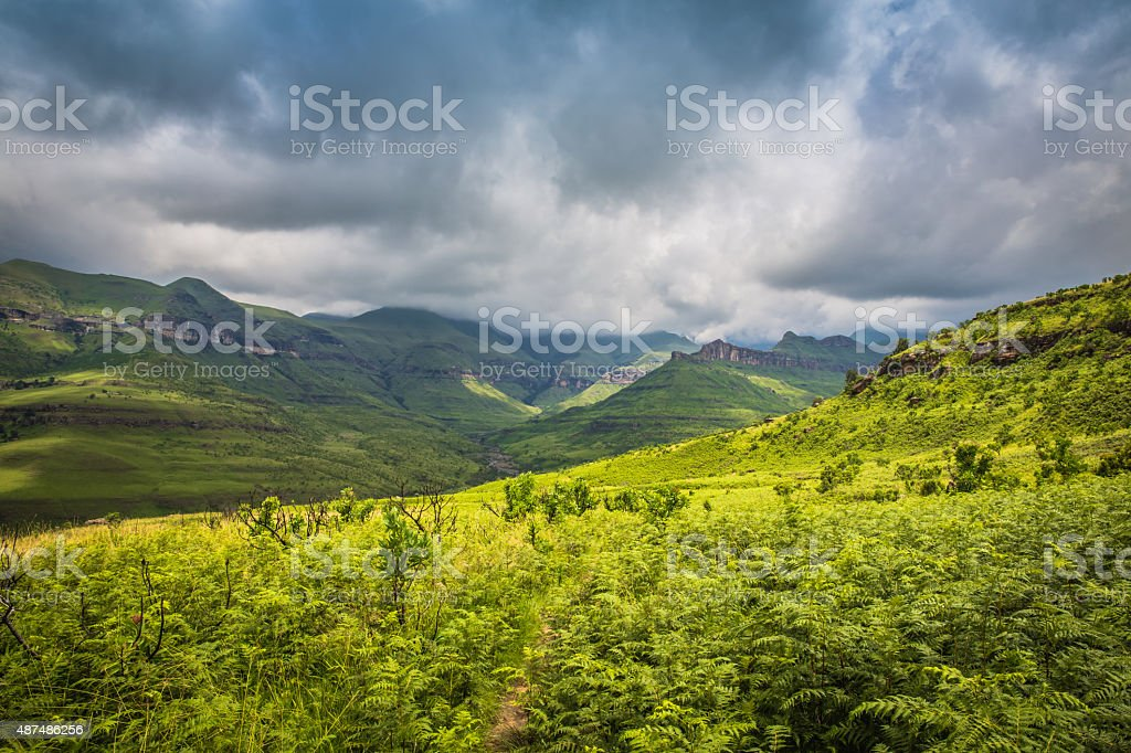 On the Road to Drakensberg royalty-free stock photo