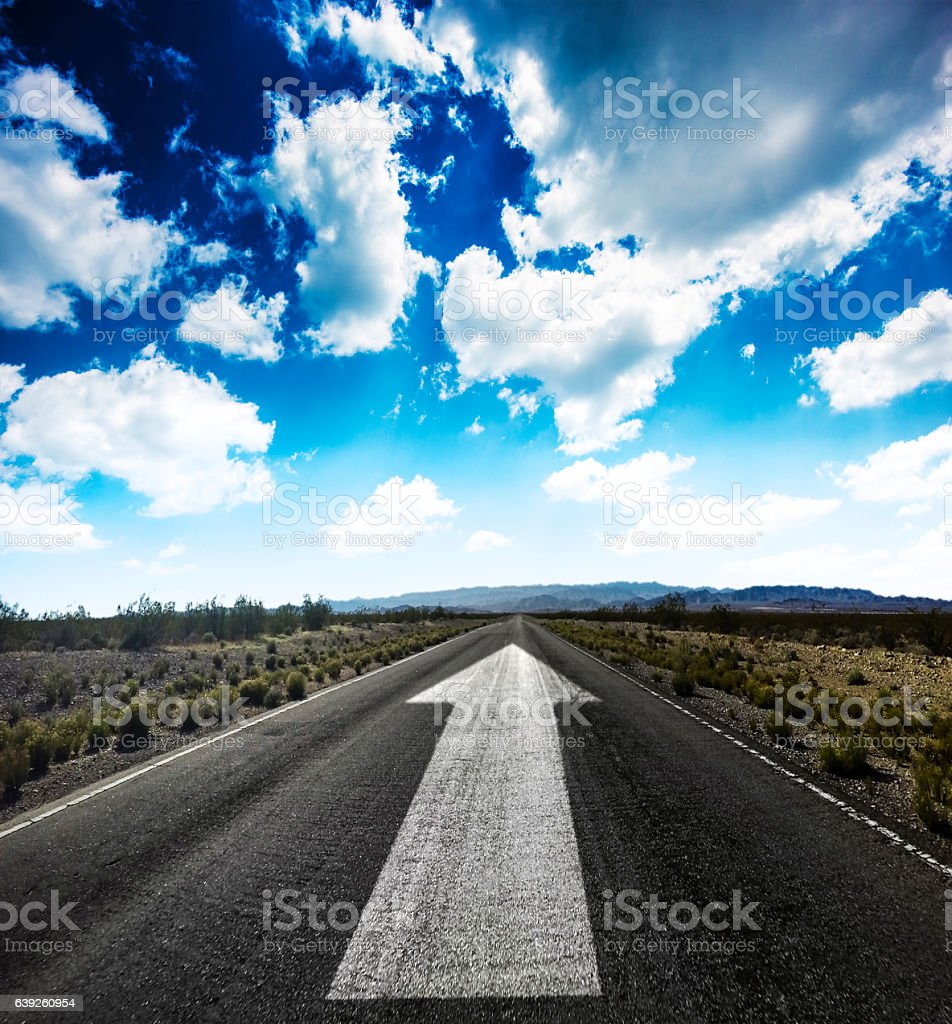 on the road to the future stock photo
