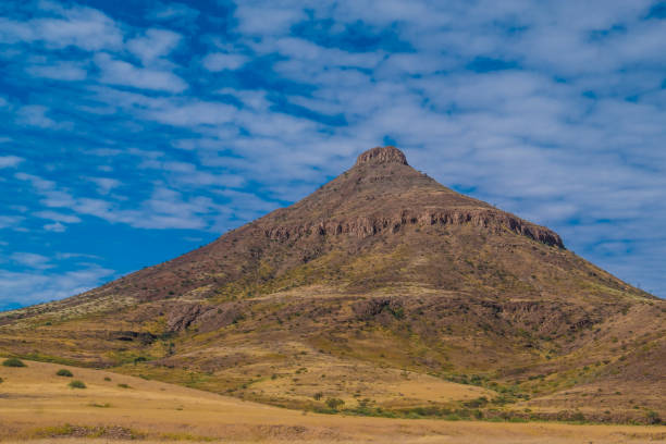 On the road toward Khorixas in the Kunene region of Northern Namibia. On the road toward Khorixas in the Kunene region of Northern Namibia. antipode stock pictures, royalty-free photos & images