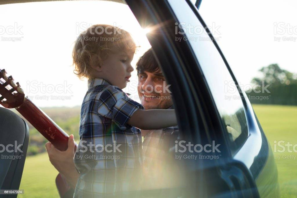 On the road trip with my dad royalty-free stock photo