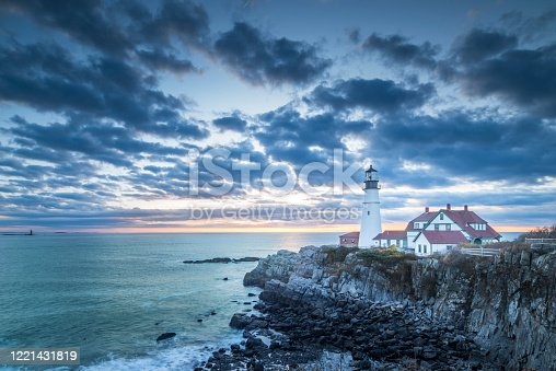 New England - USA, USA, Maine, Portland - Maine, Sunset