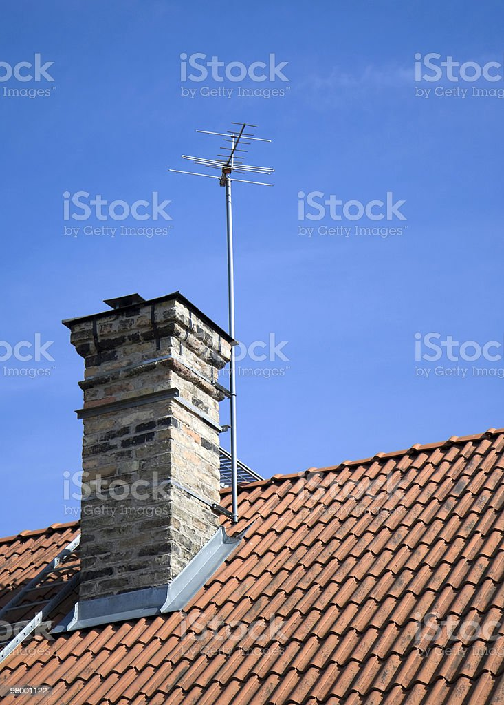 On the roof royalty-free stock photo