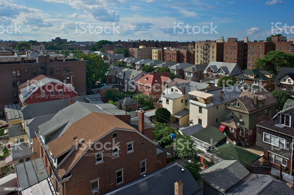 On the rooftops in Queens, NY foto de stock royalty-free