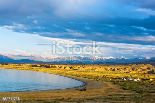 istock On the shore of Lake Issyk-Kul, Kyrgyzstan. 652711726