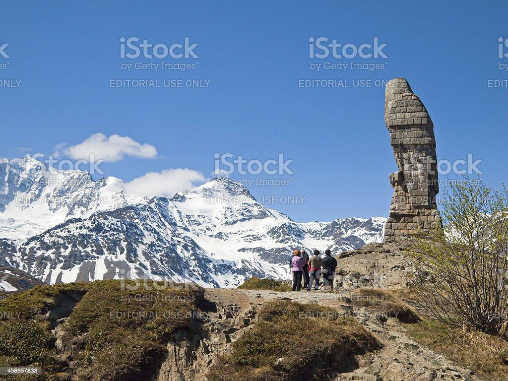 On The Simplon Pass stock photo