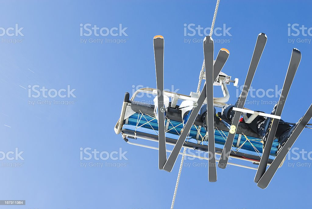 On the ski lift (chairlift) - II stock photo