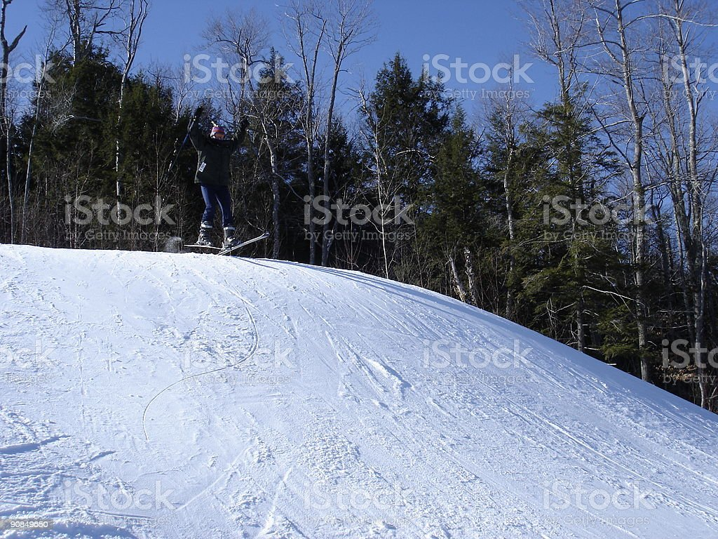 On the slope royalty-free stock photo