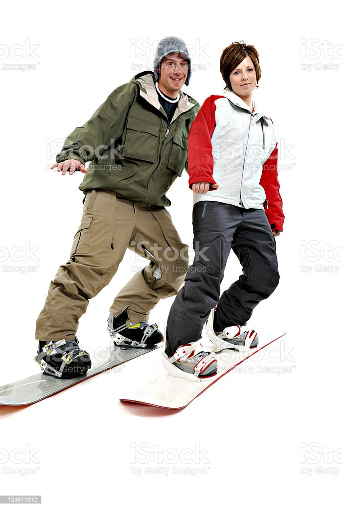 On The Slopes Together. royalty-free stock photo