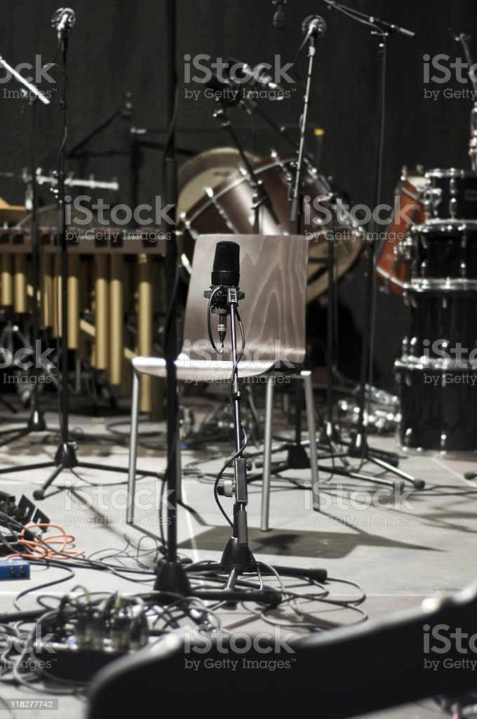 On the Stage royalty-free stock photo