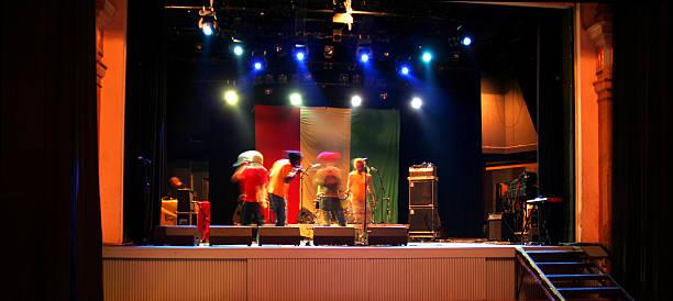 on the stage - reggae stok fotoğraflar ve resimler