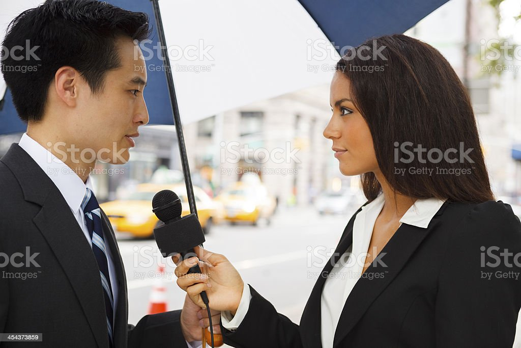 On the Steet Interview royalty-free stock photo