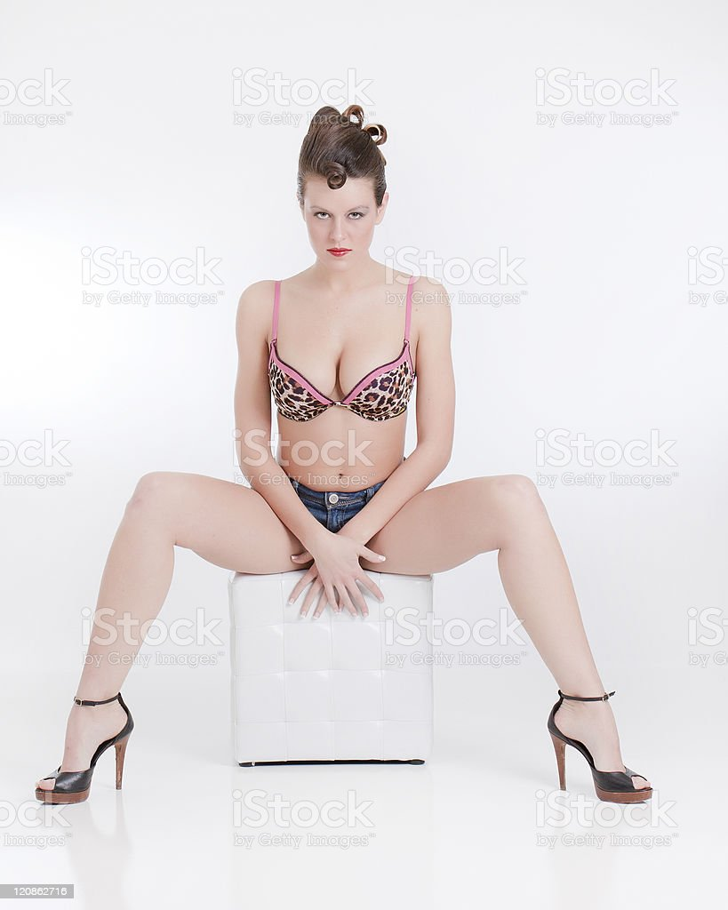 On the Stool stock photo