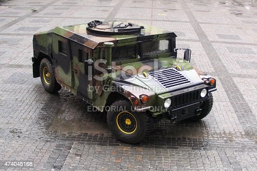 Warsaw, Poland, 8th July 2009: HMMWV (High Mobility Multipurpose Wheeled Vehicle - commonly called