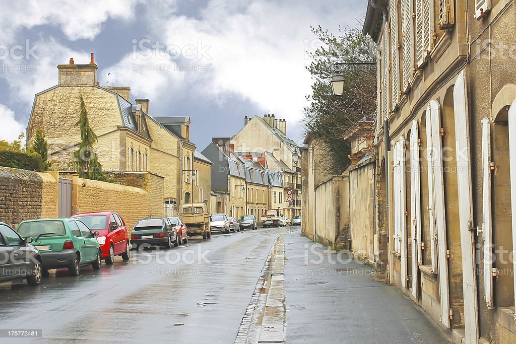 On the streets of Bayeux. Normandy, France royalty-free stock photo
