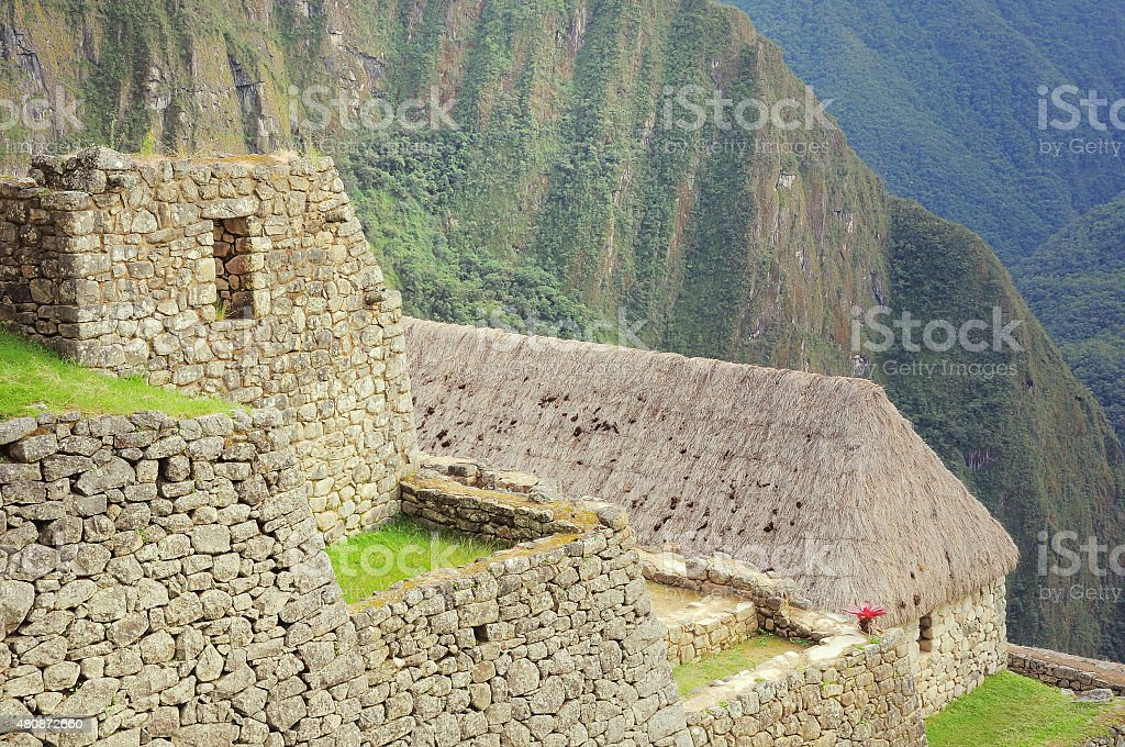 On the streets of Machu Picchu stock photo