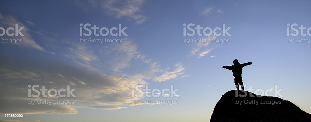 On the Summit royalty-free stock photo