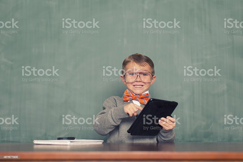 On the Tablet stock photo