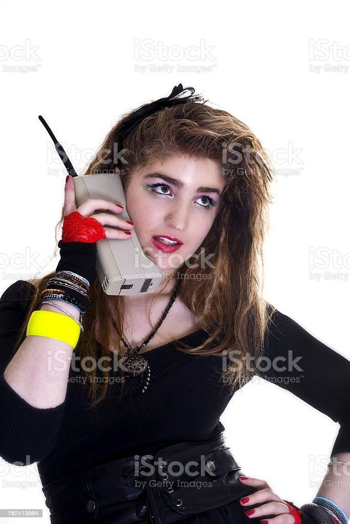 On the telephone stock photo