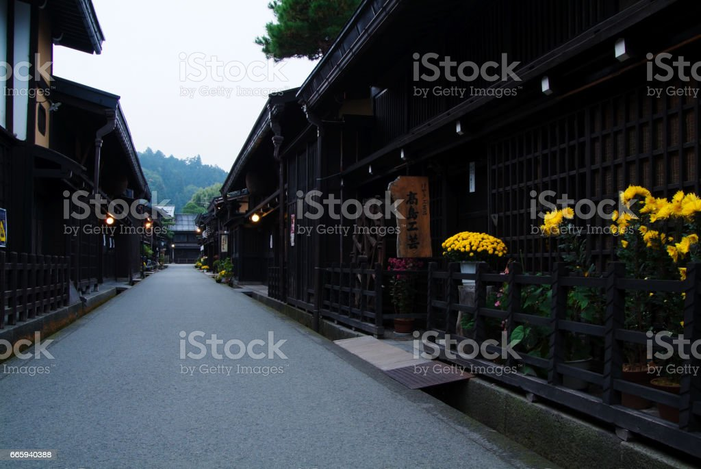 On the third, the streets of the town foto stock royalty-free